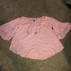 Justice pink flowy blouse top size 6/7